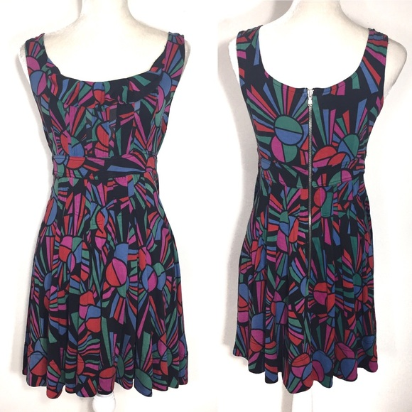 1d4f514271e4 Marc Jacobs Dresses   Geometric Sleeveless Fit Flare Dress   Poshmark